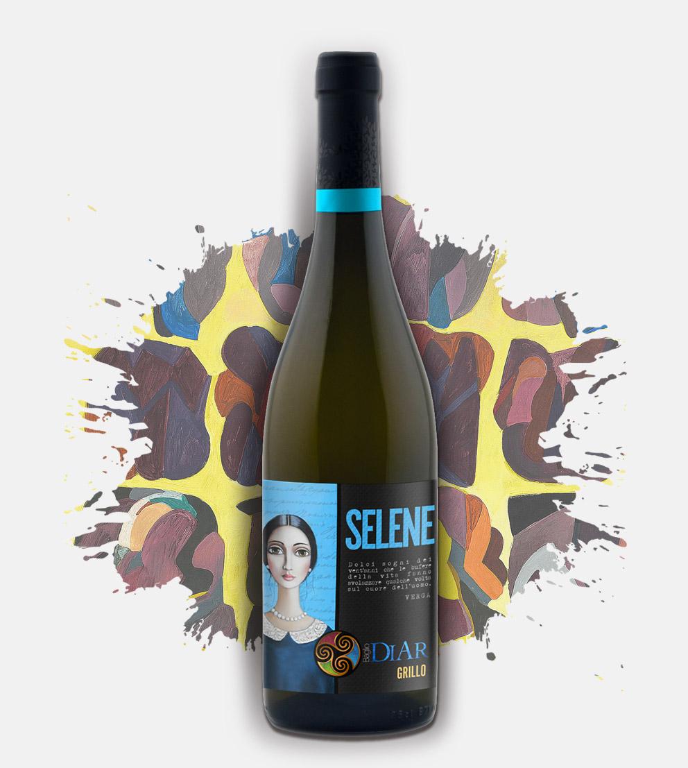 Vino Bianco Grillo - Selene - Baglio Diar